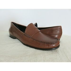 Cole Haan Moc Penny Loafers Luggage Comfort NWOB